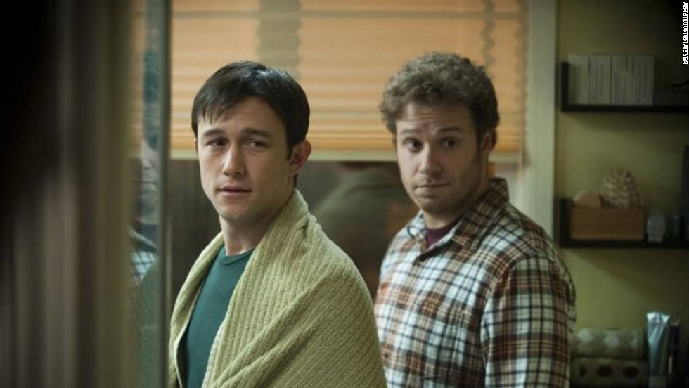 """50/50"" starring Joseph Gordon-Levitt, left, and Seth Rogen, takes a comedic spin on cancer. A rare spinal cancer strikes 27-year-old Adam and he relies on his best friend, Kyle, to have his back, literally and figuratively. The movie received acclaim from critics and USA Today gave it an ""A,"" saying it ""... draws humor out of a young man's illness, walks a tightrope of tragicomedy and touches on all the right points."""