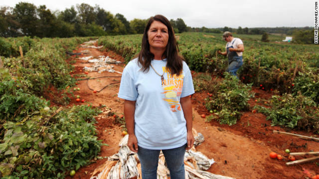 Many of the workers at Ellen Jenkins' farm on Chandler Mountain fled the state after the signing of the new law.