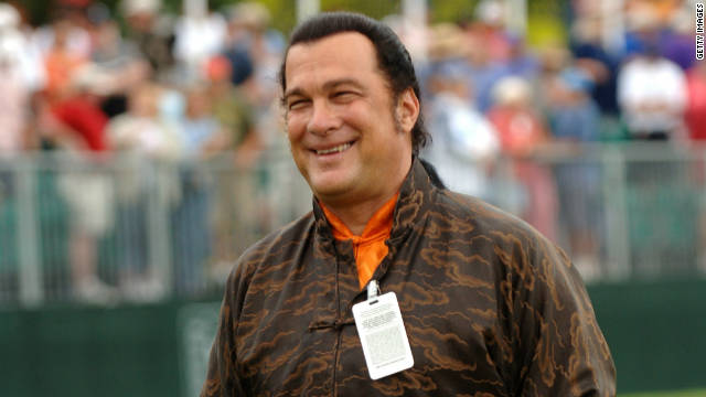 Actor Steven Seagal attends a charity golf game in Memphis, Tennessee in May, 2005