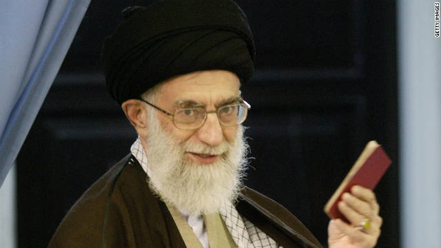 Supreme Leader Ayatollah Ali Khamenei casts his ballot in Iran's parliamentary election on March 14, 2008 in Tehran.