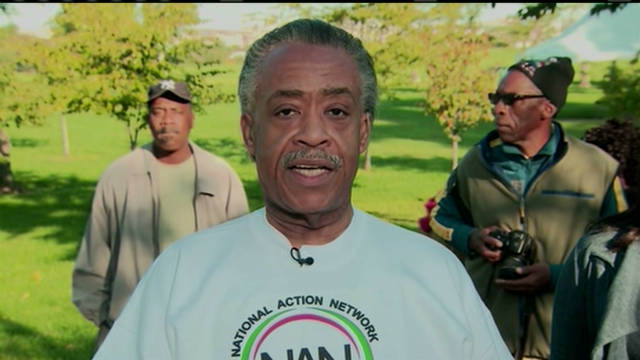 Rev. Al Sharpton leads jobs march