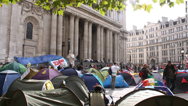 Occupy London Stock Exchange protest's tent city outside St Paul's Cathedral