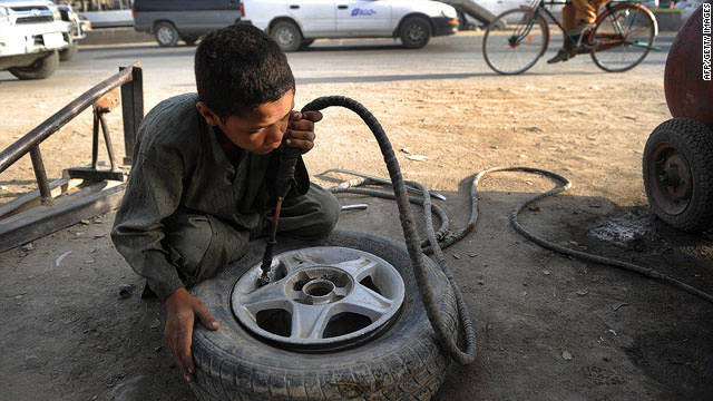 Children forced to work in Afghanistan
