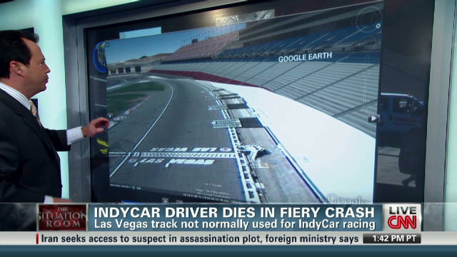 Did racetrack contribute to fiery crash?