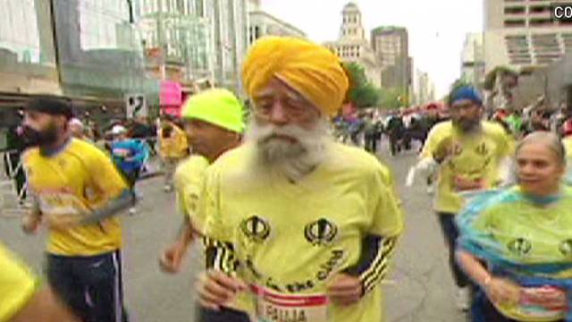 100-year-old man finishes marathon