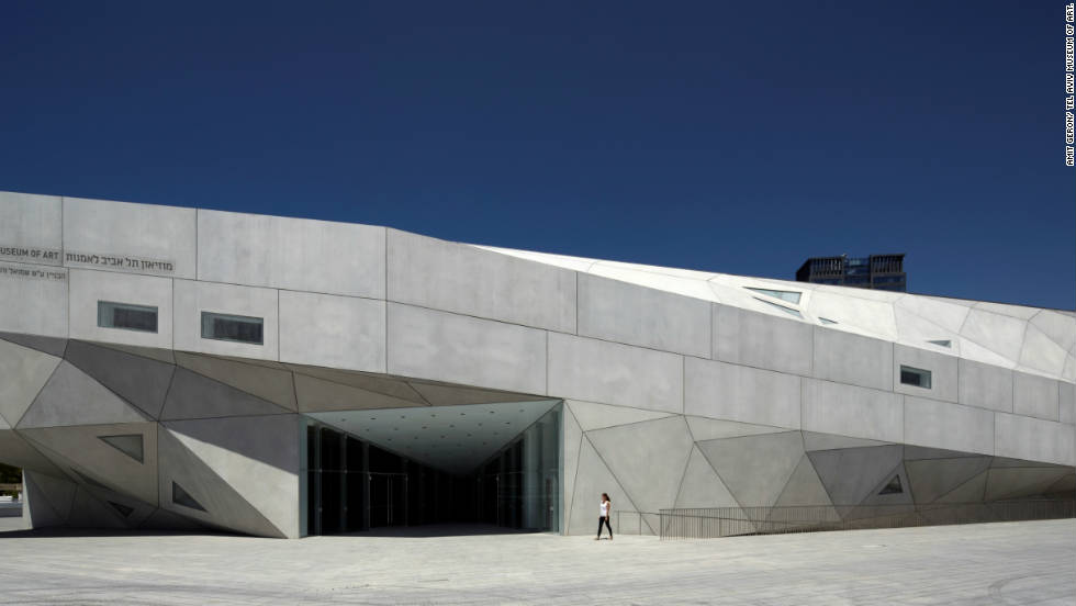 The new Herta and Paul Amir building, due to open in November, at the Tel Aviv Museum of Art.