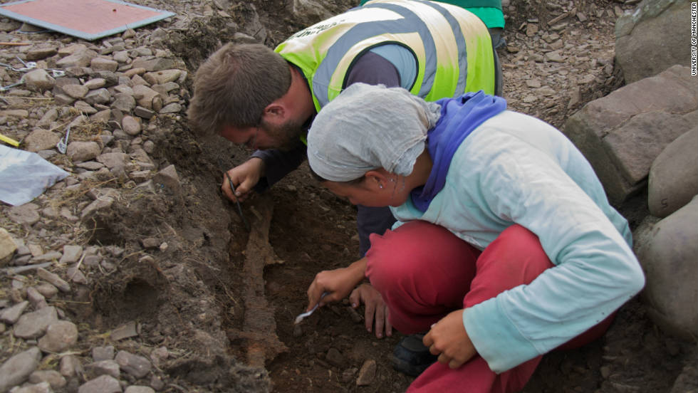 The team also found hundreds of metal rivets, which are thought to have held the Viking's ship together.