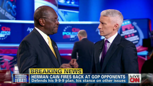 Cain admits he mispoke at debate