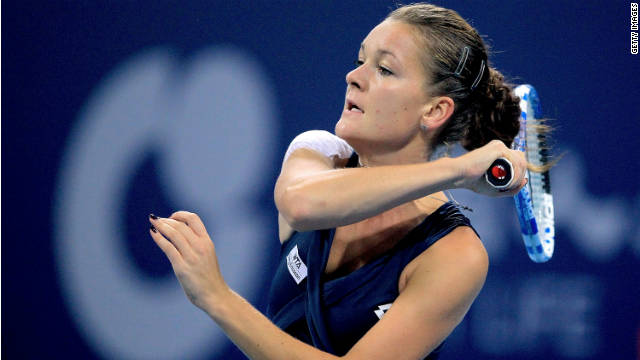 Agnieszka Radwanska lost to Lucie Safarova as she bid to seal a WTA Championships berth