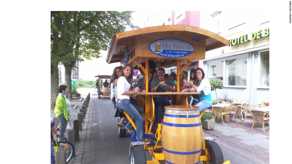 In the Netherlands, cycling has veered away from the traditional design. In recent years, 15 person fietscafes (beer bicycles) have become very popular.