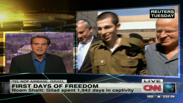 First days of freedom for Gilad Shalit