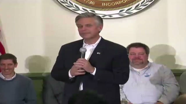 Huntsman skips debate, jokes about it