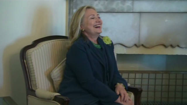 Clinton talks about Cain in Afghanistan