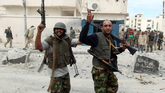 Libyan National Transitional Council fighters during a lull in the battle against loyalist troops this week in Sirte.