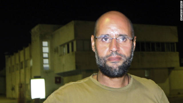 Saif al-Islam Gadhafi pictured in Libya before his capture.