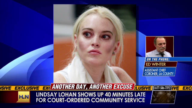 Lohan turned away from shift at morgue