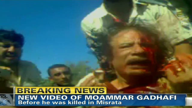 The last moments of Moammar Gadhafi