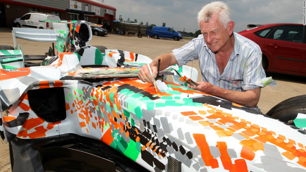The car has been decorated by artist Dexter Brown, who has been working on motorsport-related pieces for 30 years.