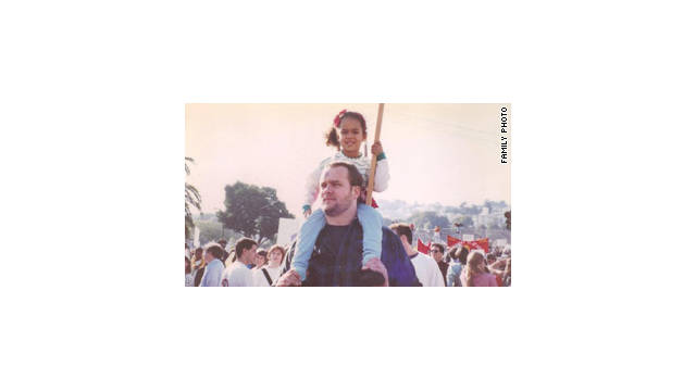 Meleia Willis-Starbuck, seen here with John Starbuck at a 1991 anti-war rally, died at age 19.