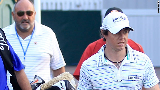 "Rory McIlroy and former manager Andrew ""Chubby"" Chandler at the PGA Championship in August."