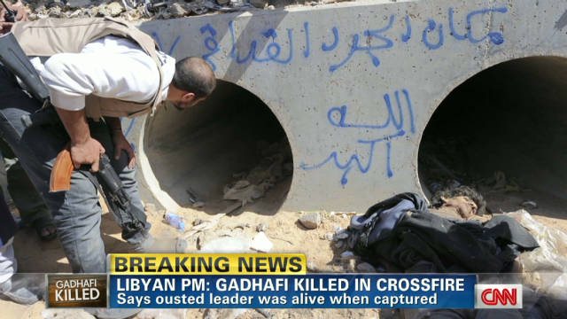 Journalist details Gadhafi final moments