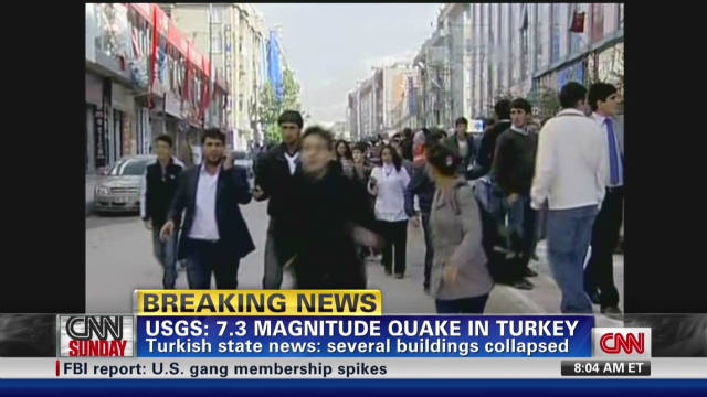 Magnitude 7.3 quake hits Turkey