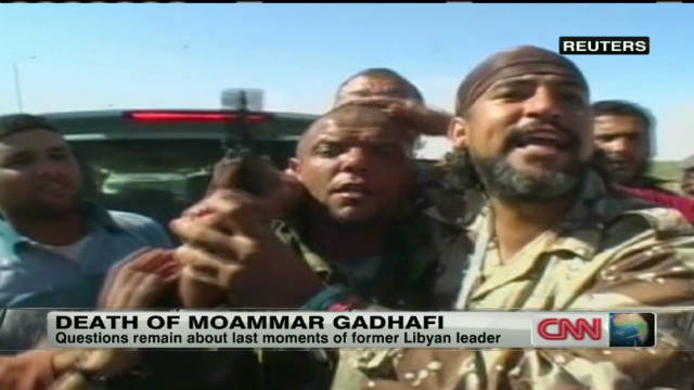 Purported Gadhafi killer on-camera