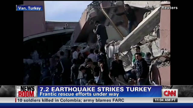 Turkey earthquake damage 'massive'