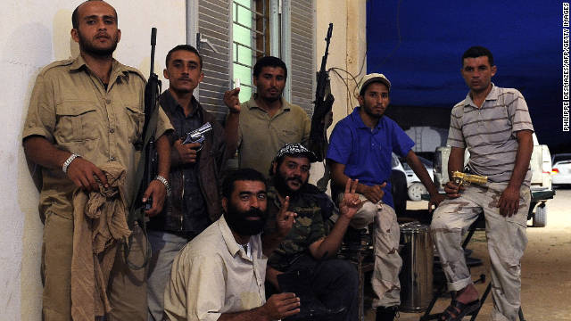 National Transitional Council fighters from the Al-Ghiran brigade who captured Libya's strongman Moammar Gadhafi in Sirte.