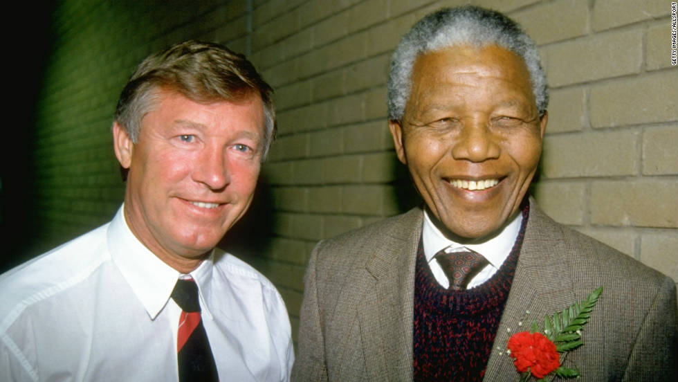 In 1993, United won the English title for the first time in 26 years, and Ferguson took the club on a tour of South Africa, where he met Nelson Mandela before the ANC leader became the country's first post-apartheid president.