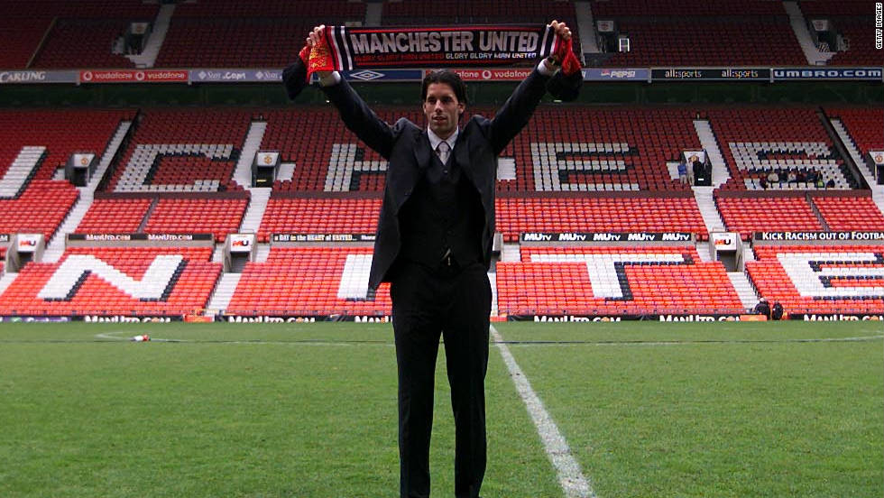 Ruud van Nistelrooy was supposed to join United from PSV Eindhoven in the summer of 2000, but a serious knee injury thwarted the deal at the last minute. Ferguson was so convinced he waited nearly a year, keeping in regular contact with the Dutchman, before signing him the following spring. He was repaid with 150 goals in five prolific seasons at Old Trafford.