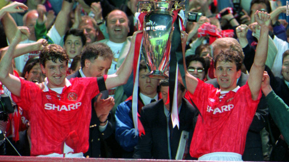 When Steve Bruce headed home a dramatic winner for United against Sheffield Wednesday, at the culmination of the 1992-93 season, Ferguson and his assistant Brian Kidd leaped onto the Old Trafford turf in hysterical celebration. A first title in 26 years was all but assured and nine years of hard work had come to fruition.