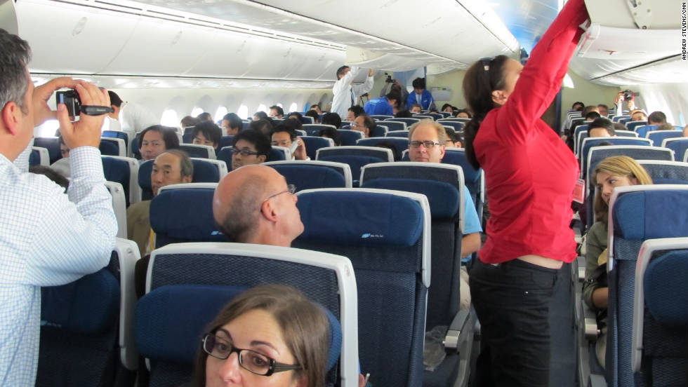 Another change in aviation is the air we breathe. The Boeing Dreamliner (interior pictured during the plane's first press trip) has the best-filtered air, according to one aviation expert. New generations of aircraft will put more emphasis on air purification.