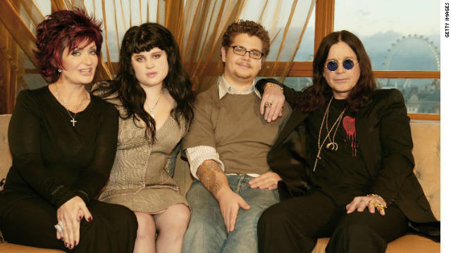 "Sharon, Kelly, Jack and Ozzy Osbourne, shown here in 2004, were the stars of MTV's ""The Osbournes."""