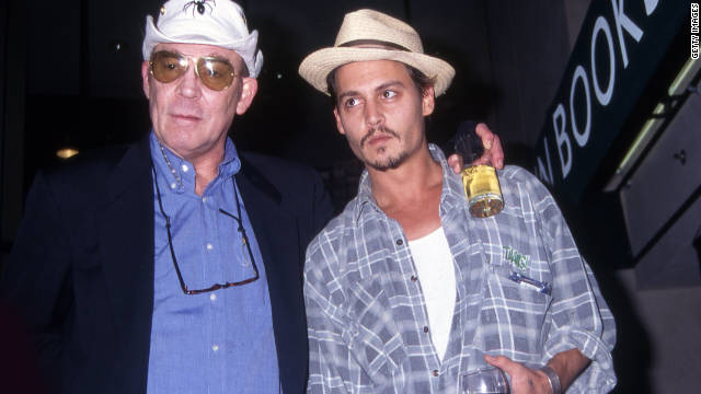 "Johnny Depp, with Hunter S. Thompson in 1998, said the famed writer was, ""hyper, hypersensitive, hence the self-medication."""