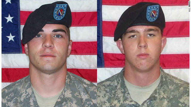 Pvt. Jeremy Morlock, left, and Pfc. Andrew Holmes, right, have both pleaded guilty to murder charges.