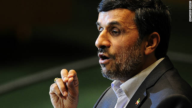 Iran's President Mahmoud Ahmadinejad addresses the 66th UN General Assembly at the United Nations headquarters in New York, September 22, 2011.