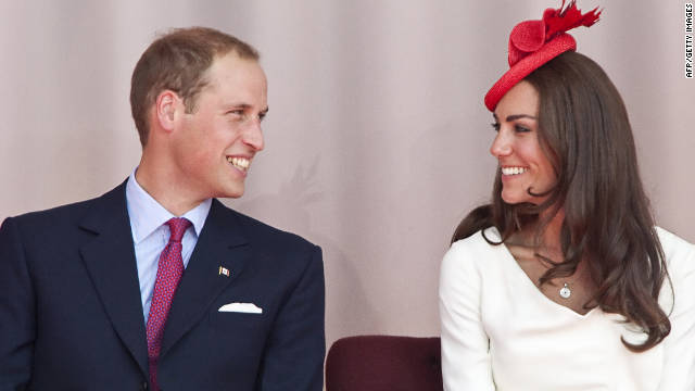 Newly-weds Catherine, Duchess of Cambridge, and her husband Prince William on a royal tour of Canada in July.