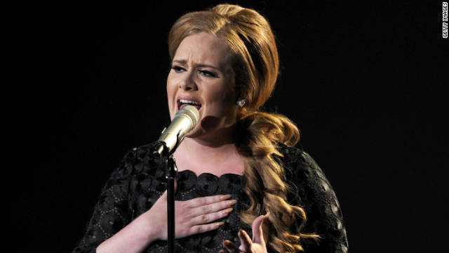 Adele the belle of the Grammy ball