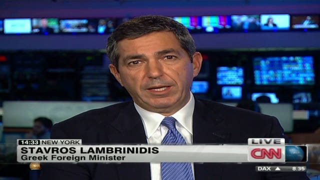 Lambrinidis: 'We safe guarded Europe'