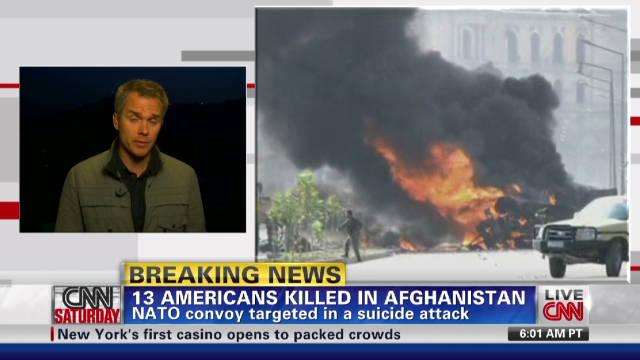 13 U.S. troops killed in Afghanistan