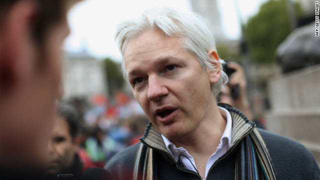 Julian Assange, has been living in the Ecuadorian Embassy in London since applying for political asylum on June 19.