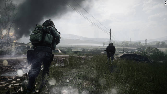 """Battlefield 3"" has impressive graphics that cast gloomy shadows and appear to move every blade of grass individually."