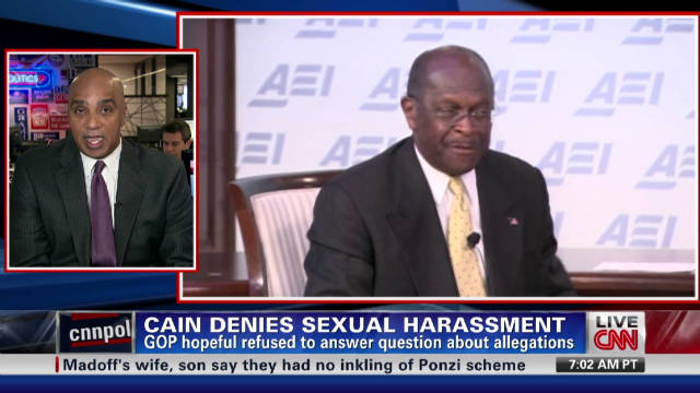 Harassment claim against Cain not clear