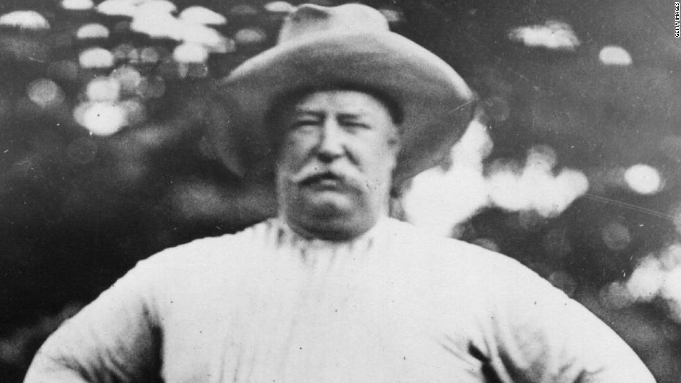 William Taft was the the first president to openly admit to his love of golf, which had previously been depicted as a sport for the rich.