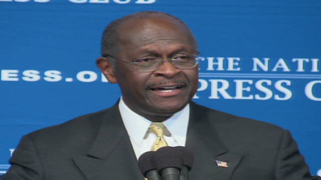 Cain sings at National Press Club