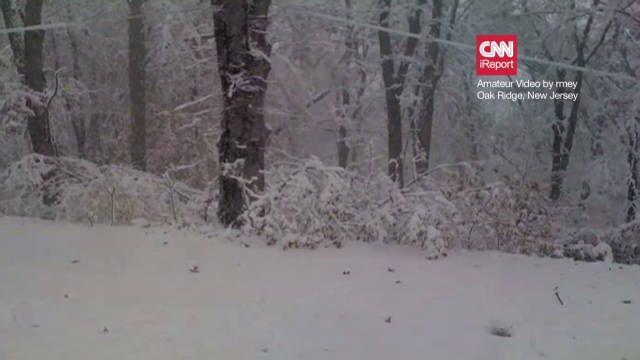 Time-lapse of the snowfall in New Jersey