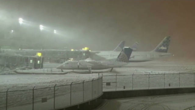 Passengers stranded on the tarmac