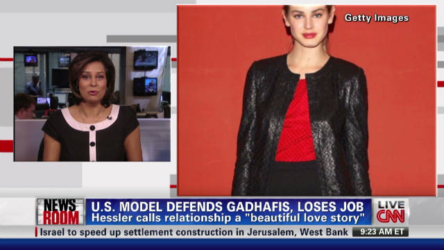 Model fired over defending Gadhafi