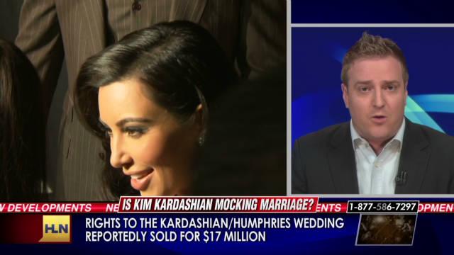 Is Kim Kardashian mocking marriage?